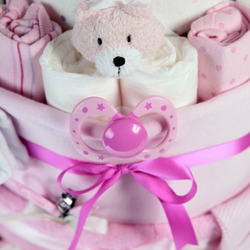 Baby Big Bottle Diaper Cake - Pink