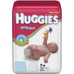 Huggies Baby Diapers, Snug & Dry, Size 4 (22 - 37 lbs), Super Mega, Bag of 60