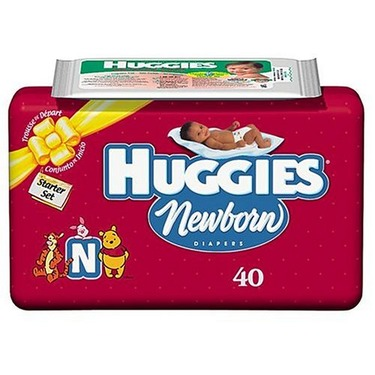 Huggies Newborn Diapers Starter Set, 40-Count