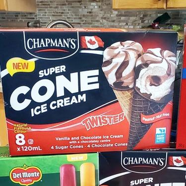 Chapman's Twister Super Cone Ice Cream with Chocolatey Centre