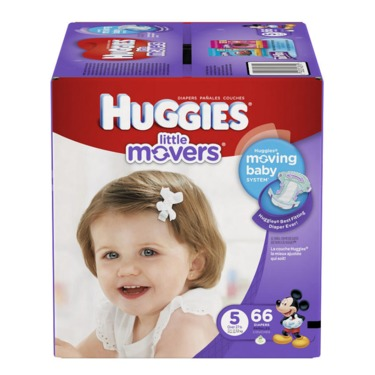 Huggies Little Movers Diapers - Size 5 - 56 Count