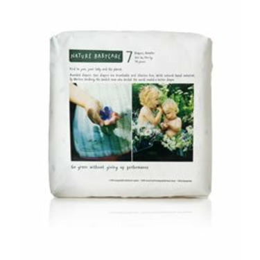 Nature babycare Eco-Friendly Diapers, Size 7 +41lb 72ct 1 case