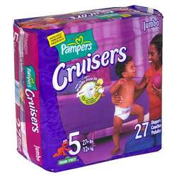 Pampers Cruisers, Size 5, 27-Count