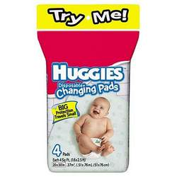 Huggies Disposable Changing Pads (4 Pads)