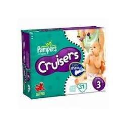 Pampers Cruisers, Size 3, 31-Count (Pack of 6)