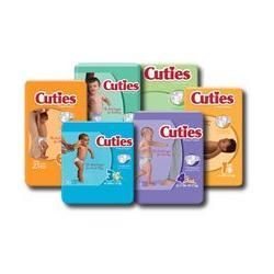 Cuties Premium Baby Diapers 8-14lbs, Size 1, 50/Bag