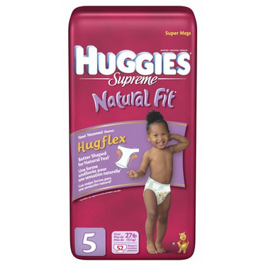 Huggies Supreme Natural Fit Diapers, Size 5, 52-Count