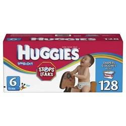 Huggies Snug & Dry Diapers, Size 6, 128-Count
