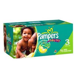 Pampers Baby Dry Diapers, Size 3, 96 diapers