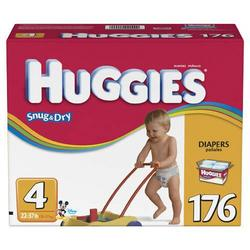 Huggies Snug & Dry Diapers, Size 4, 176-Count