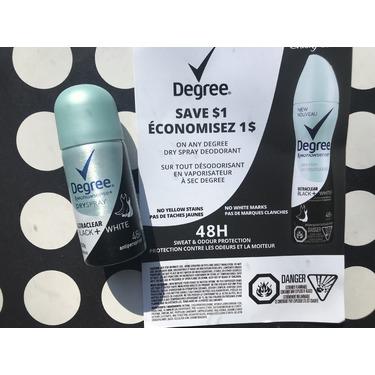 Degree motion sense dry spray ultra clear (black + white)