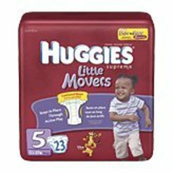 Huggies Little Movers Diapers, Size 5, 23-count