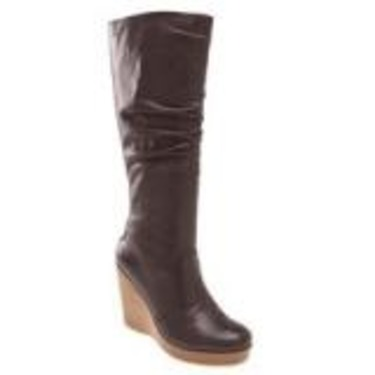 Wedge slouchy boots