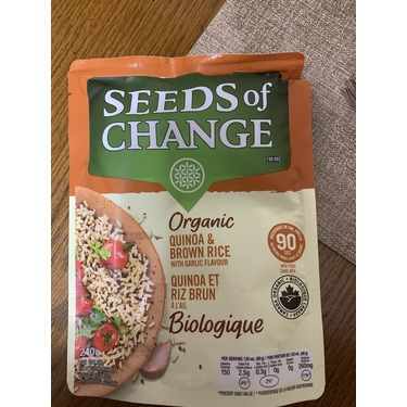 Seeds of Change Quinoa and Brown Rice with Garlic Flavour