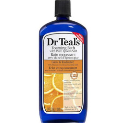 Dr. Teal's foaming bath with pure epsom salt glow and radiance