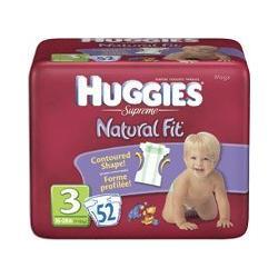 HUGGIES SUPREME DIAPERS, SIZE 3, 16-28 LBS, 104/CS, KIC52383