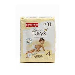 Fisher-price Happy Days 31 Count Diapers - Size 4