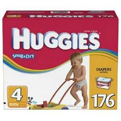 Huggies Snug & Dry Size 4, 176 Count