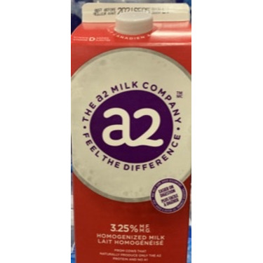 """<span style=""""text-transform: lowercase !important;"""">a2</span>  Milk™ 2% Partly Skimmed Milk"""