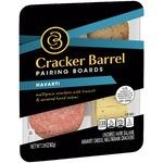 Cracker Barrel Pairing Boards, Havarti, Uncured Hard Salami & Multigrain Crackers
