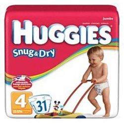 HUGGIES SNUG/DRY STEP 4 55504 Size: 4X31