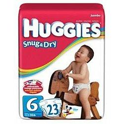 HUGGIES SNUG/DRY STEP 6 55506 Size: 4X23