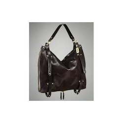 DKNY Antiqued Calf Leather Hobo Bag
