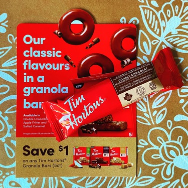 Tim Horton's double chocolate granola bar