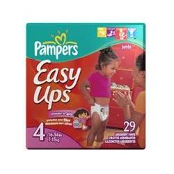 Pampers Easy Ups Diapers, Girls, Size 4, 29-Count