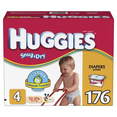 Huggies Baby Diapers, Snug & Dry, Size 6 (Over 35 lbs), Super Mega, Bag of 52