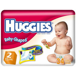 Huggies Ultratrim Unisex Diapers, Size 1 Fits 8-14 lbs, 40 ct