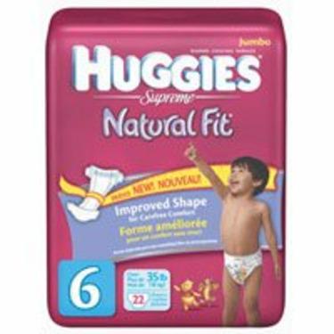 Huggies Supreme Diapers Step 6 (Over 35 Lbs) Natural Fit Jumbo Pack - 22 Per Pack, 4 Packs