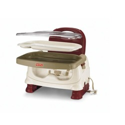 Fisher-Price Healthy Care Deluxe Booster Seat, Red/White