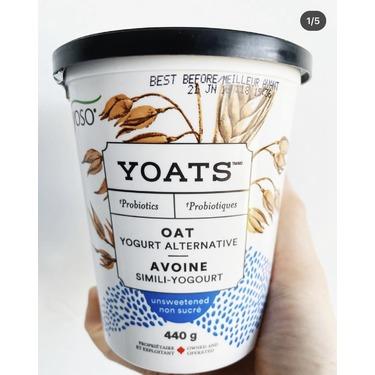 yoso unsweetened oat yogurt