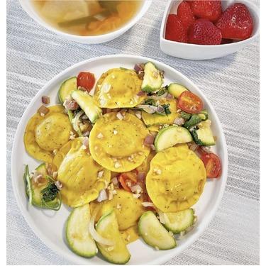 Scoiattolo grilled organic vegetable ravioli