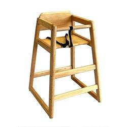 LA Baby Commercial/Restaurant Wooden High Chair, Natural