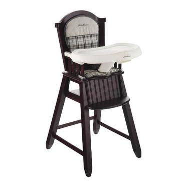 Eddie Bauer Wood High Chair, Stonewood
