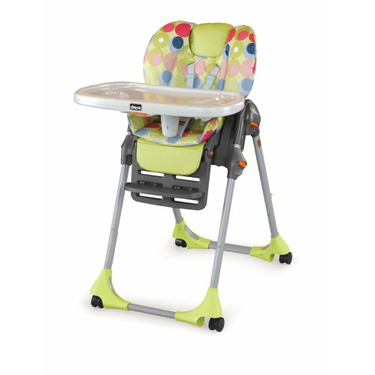 Chicco Polly Double Pad Vinyl High Chair, Splash