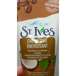 st. ives rise & energize coconut & coffee face scrub