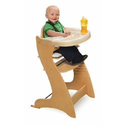 Badger Basket Embassy Wood Baby High Chair with Tray, Espresso