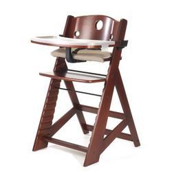 Keekaroo Height Right High Chair with Tray, Mahogany