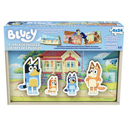 Bluey 4-Pack Wooden Puzzles Collection