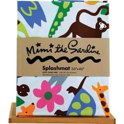 Mimi the Sardine Coated Organic Cotton Splashmat, Jungle