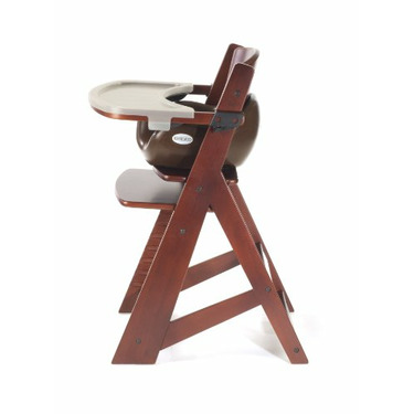 Keekaroo Height Right High Chair, Infant Insert and Tray Combo, Mahogany/Chocolate