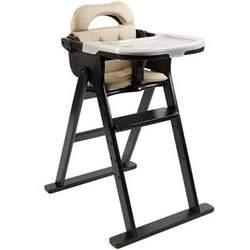 Scandinavian Child Anka Convertible High Chair in Espresso