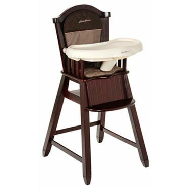 Eddie Bauer Classic Cherry Wood High Chair - Michelle