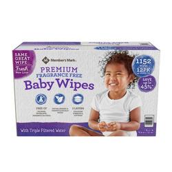 Member's Mark Premium Fragrance Free Baby Wipes