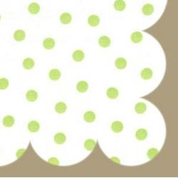 Lime Dot Retro Splat Mat