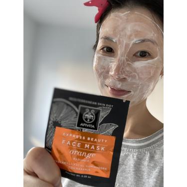 Apivita Express Beauty Revitalizing Mask with Orange