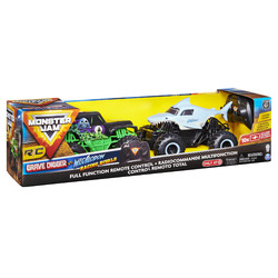 Monster Jam Racing Rivals Remote Control Trucks, 1:24 Scale